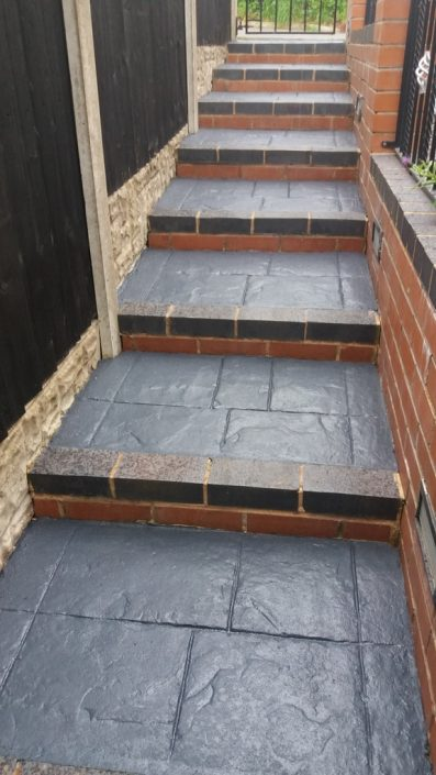 Mrs Bradshaw's Steps After Charcoal Grey Sealer