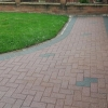 before completing a complete seal brown / red block paving