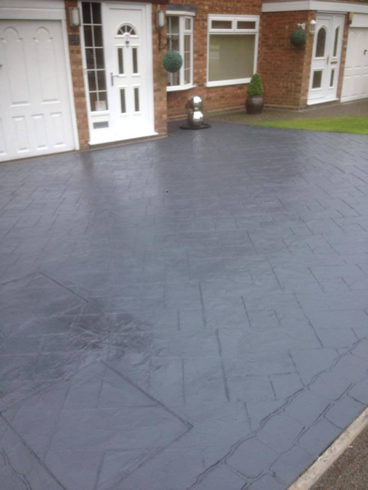 completed drive Sealed With Charcoal Grey Acrylic Sealer