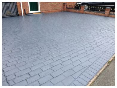 Sealed With Charcoal Grey Concrete Print Sealer
