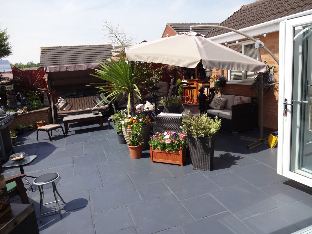 Patio After Using Charcoal Grey Acrylic Sealer
